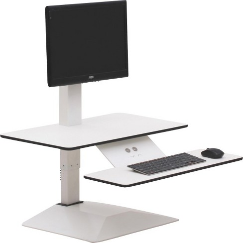 Lorell Sit To Stand Electric Desk Riser 21 6 Height X 26 6 Width
