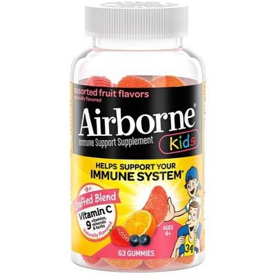 Airborne Kids Multivitamin Gummies with Zinc - 63ct
