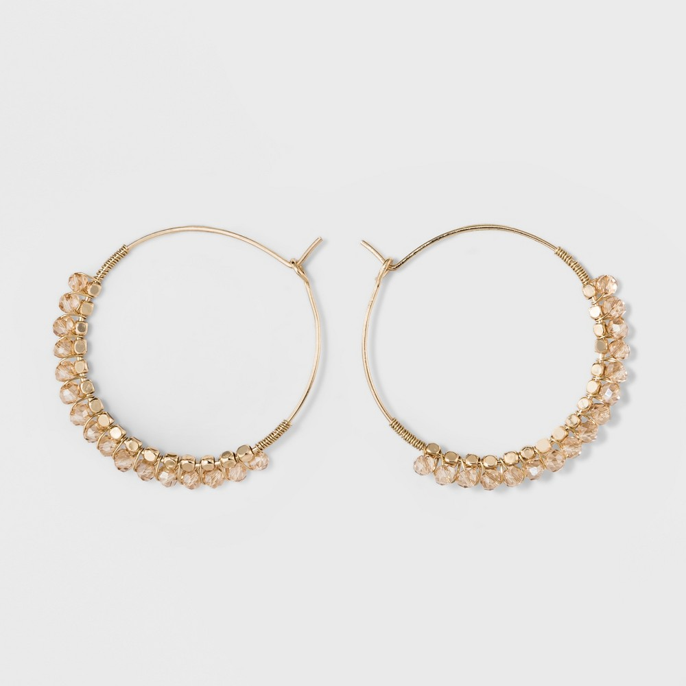 Beads Hoop Earrings - A New Day Gold