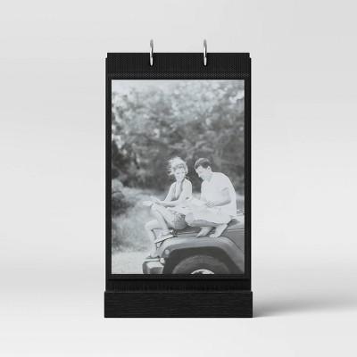 """4"""" x 6"""" Photo Flip Wood Base Single Image Frame Black - Threshold™"""