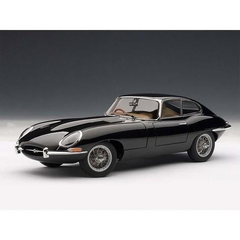 Jaguar E Type Coupe Series 1 3 8 Black With Metal Wire Spoke Wheels 18 Cast Model Car By Autoart Target
