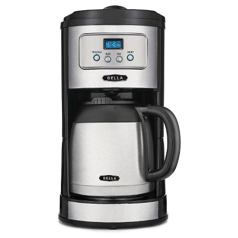 BELLA Classics 10 Cup Programmable Coffee Maker with Thermal Carafe, Stainless Steel - image 1 of 3
