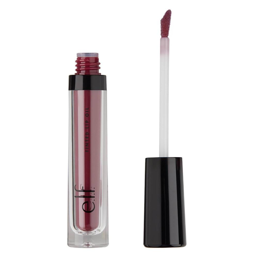 Image of e.l.f. Tinted Lip Oil Berry Kiss - 0.10 fl oz, Pink Kiss