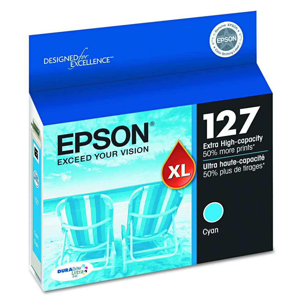 Epson 127XL Single Ink Cartridge - Cyan (Blue) (EPST127220)