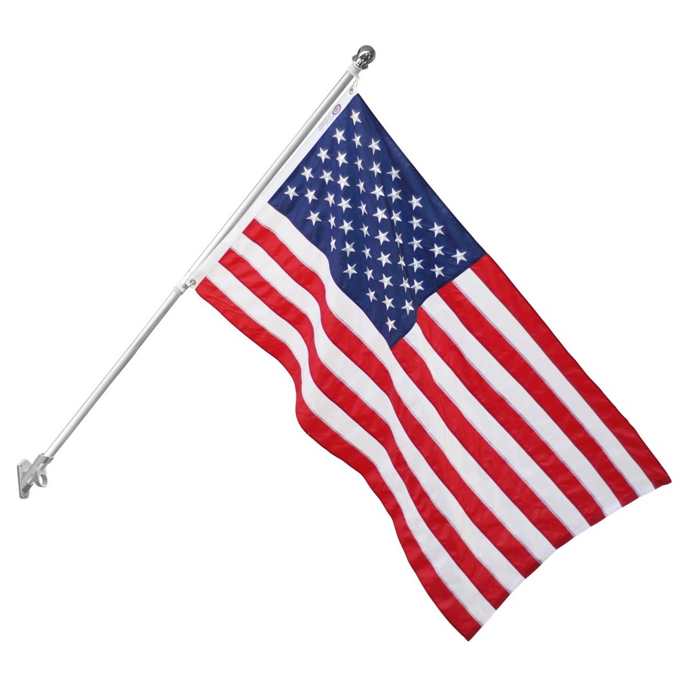 Image of Annin Aluminum 6' Spinning Flag Pole, Silver