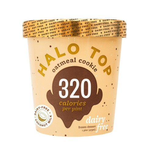 Halo Top Dairy-Free Oatmeal Cookie Ice Cream - 16oz - image 1 of 2