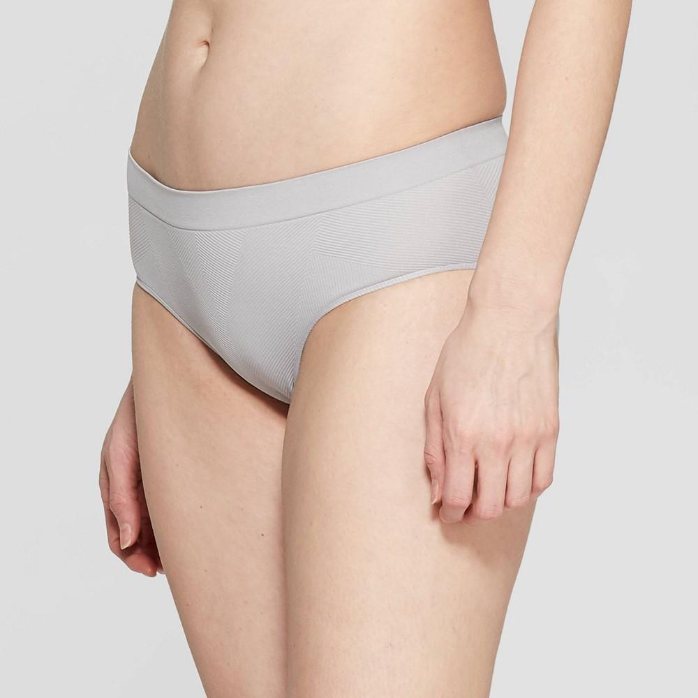 Women's Textured Seamless Hipster - Auden Light Gray XL