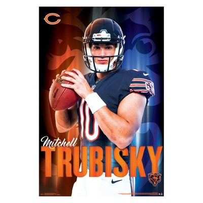 reputable site 786b4 bd3c8 Chicago Bears Mitch Trubisky Unframed Wall Poster