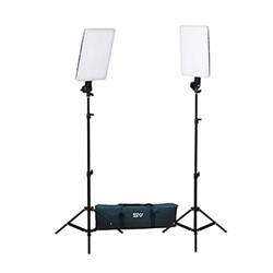 Smith-Victor SlimPanel 2x 400W Daylight LED Two Light Kit, Includes 2x 6' Stand, Heavy Duty Padded Carry/Storage Case