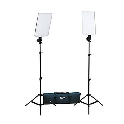 Smith-Victor SlimPanel 2x 400W Daylight LED Two Light Kit, Includes 2x 6' Stand, Heavy Duty Padded Carry/Storage Case - image 1 of 1