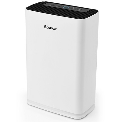 Costway Air Purifier True HEPA Filter Carbon Filter Air Cleaner Home Office 800 sq.ft