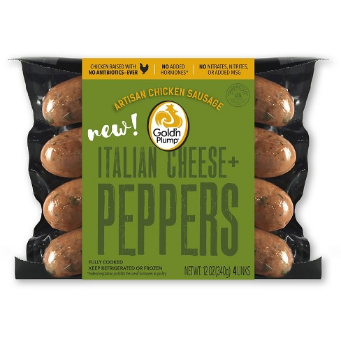 Gold'n Plump Italian Cheese and Peppers Artisan Chicken Sausage - 4ct/12oz - image 1 of 1