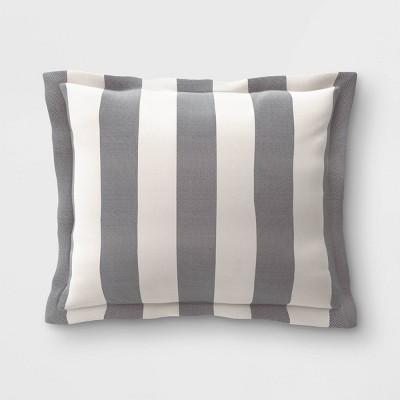 Cabana Stripe Outdoor Deep Seat Pillow Back Cushion DuraSeason Fabric™ Black - Threshold™