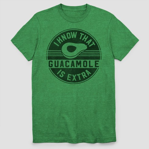 Men's Short Sleeve Guac Is Extra T-Shirt - Green Heather - image 1 of 1