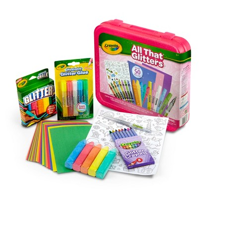 Crayola All That Glitters Coloring Kit 51pc : Target