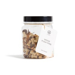 Ubrands Small Jar with Wooden Push Pins - 150ct
