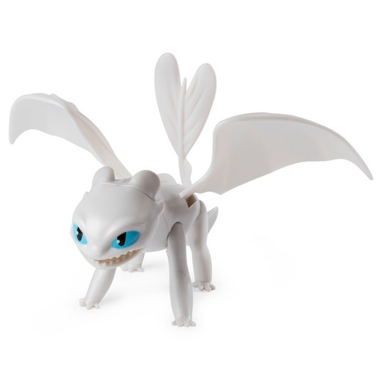 DreamWorks Dragons Lightfury and Hiccup Dragon with Armored Viking Figure image number null