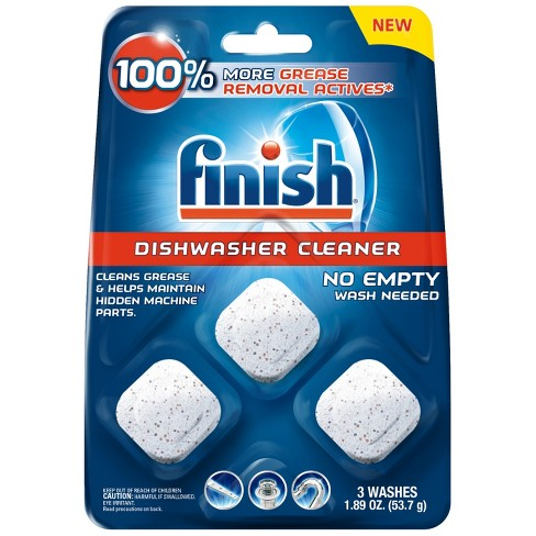 Finish In-Wash Dishwasher Cleaner - 3ct - image 1 of 5