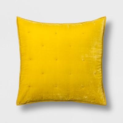 Citron Velvet Tufted Stitch Sham (Standard)- Opalhouse™