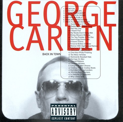 George carlin - Back in town [Explicit Lyrics] (CD) - image 1 of 1