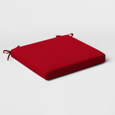 2pk Outdoor Seat Cushions DuraSeason Fabric™ Red - Threshold™