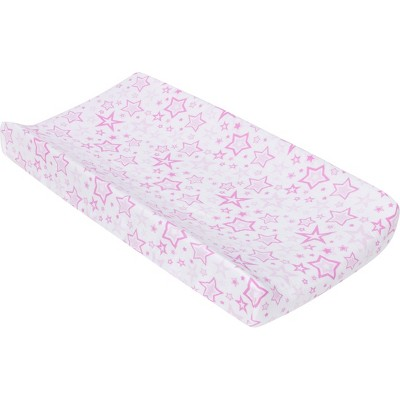 MiracleWare Muslin Changing Pad Cover Stars Pink