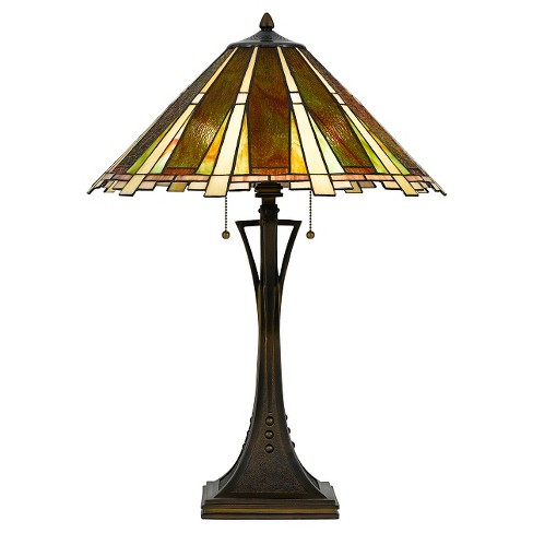 Cal Lighting 60W X 2 Tiffany Table Lamp - image 1 of 2