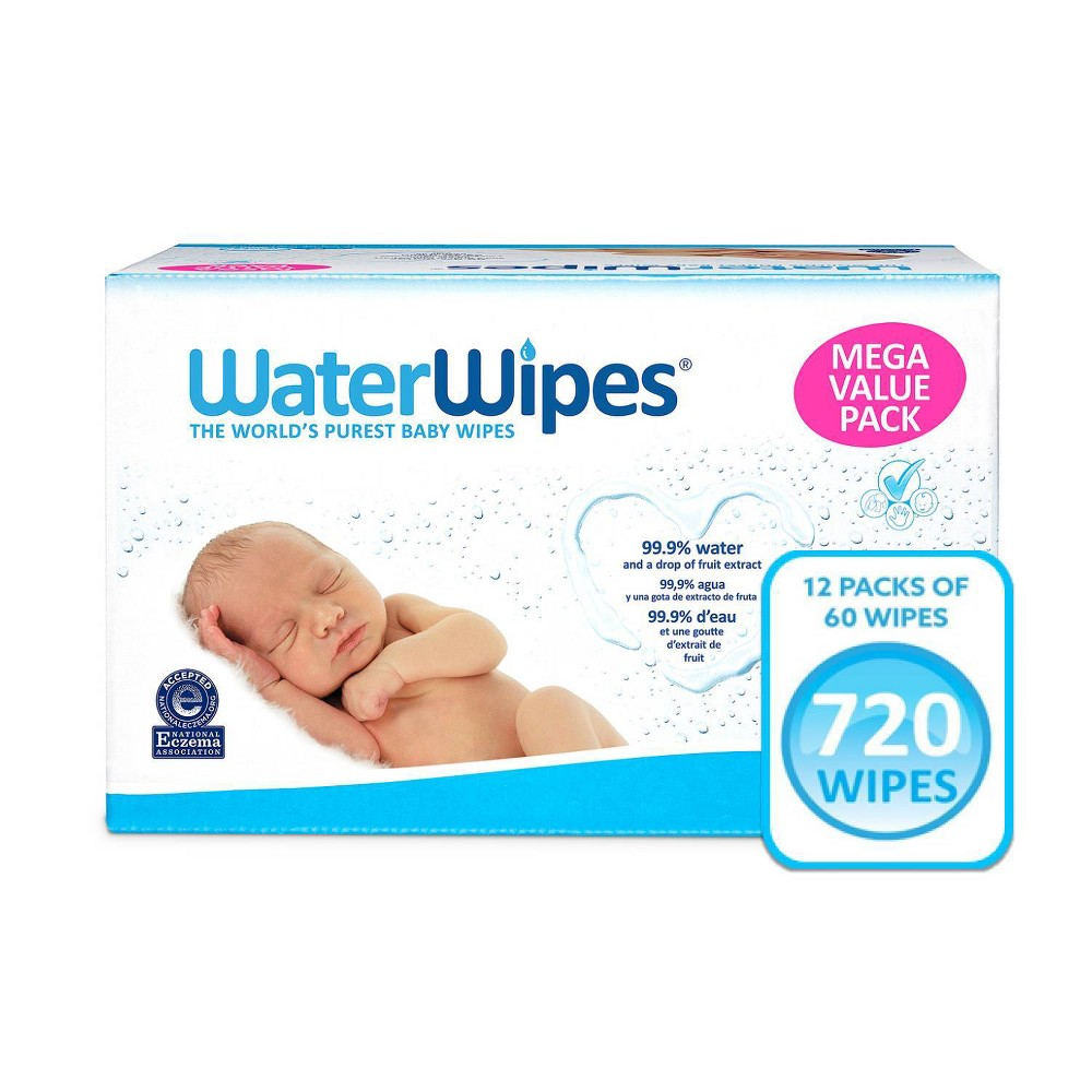 Waterwipes Unscented Baby Wipes Mega Value Box 12pk 720ct Total