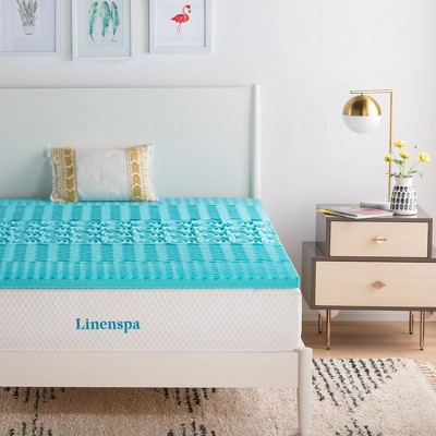 "Essentials 2"" Zone Gel Memory Foam Mattress Topper - Linenspa"