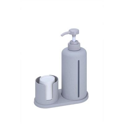 Bioplastics Mouthwash Dispenser Set Gray - enHome