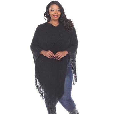 Women's Plus Size Fernanda Poncho - White Mark