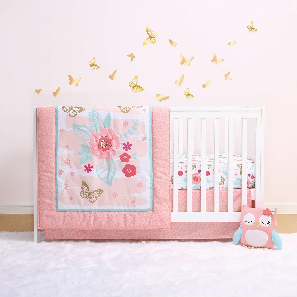 Image of PS by The Peanutshell Aflutter Crib Bedding Set - 3pc