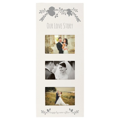 White/Silver Floral Multi Picture Frame : Target