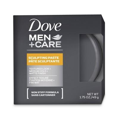Dove Men+Care Textured Look + Medium Hold + Matte Finish Sculpting Hair Paste Gel - 1.75oz