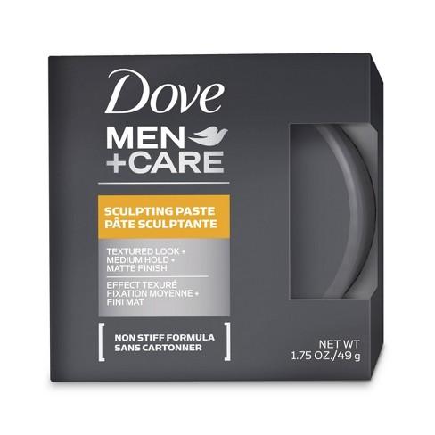 Dove Men Care Textured Look Medium Hold Matte Finish Sculpting Hair Paste Gel 1 75oz Target