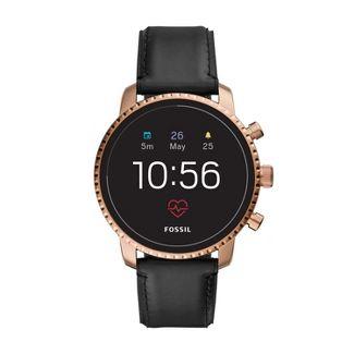Fossil Gen 4 Smartwatch - Explorist HR 45mm Black Leather