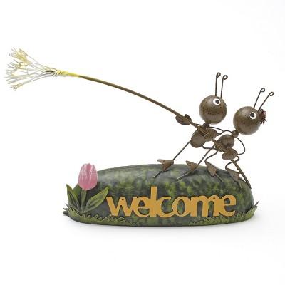 Lakeside Metal Ants Breezy Dandelion Garden Statue - Outdoor Home Accent