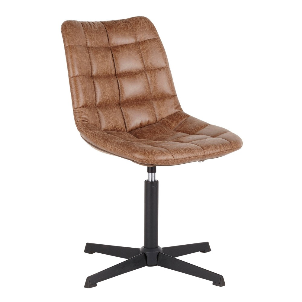 Quad Contemporary Chair Black/Light Brown - LumiSource