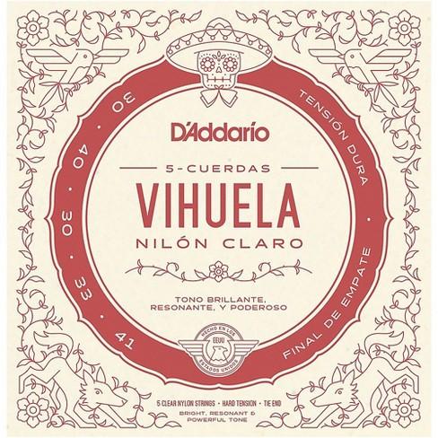 D'Addario Vihuela 5 String Set, Clear Nylon, Hard Tension - image 1 of 3