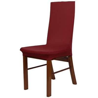 1 Pc Spandex Stretch Dining Chair Slipcovers Red  - PiccoCasa