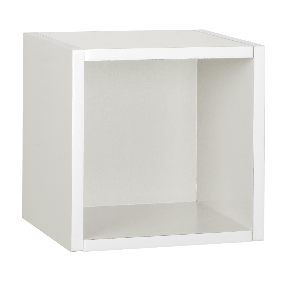 Way Basics Wall Cube - Floating Eco Decorative Wall Shelf - Natural White - Lifetime Guarantee