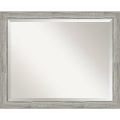 "32"" x 26"" Dove Graywash Framed Bathroom Vanity Wall Mirror - Amanti Art"