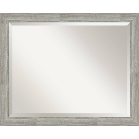 32 X 26 Dove Graywash Framed Bathroom Vanity Wall Mirror Amanti Art Target