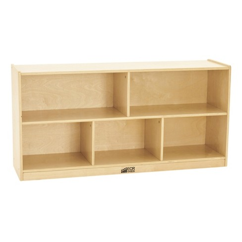 ECR4Kids Birch 5-Section Classroom Storage Cabinet with Casters, Organizer Shelf, Natural - image 1 of 4