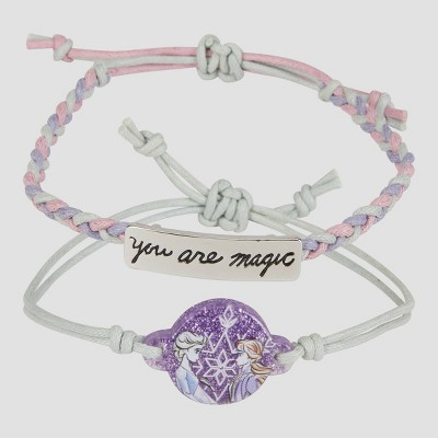 Girls' Disney Frozen 2pc Friendship Bracelet - Disney Store