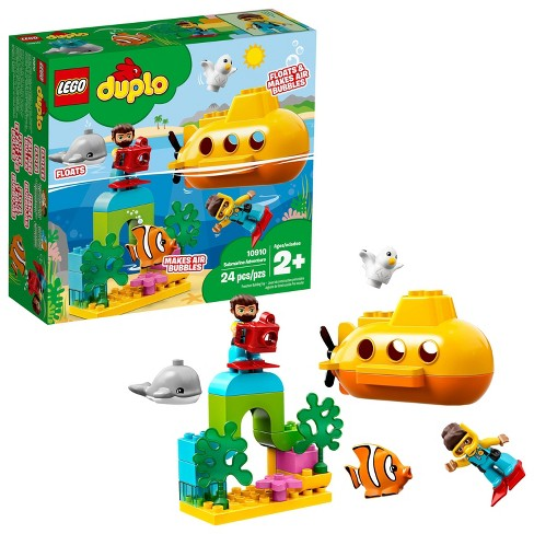 LEGO DUPLO Submarine Adventure 10910 Bath Toy Building Set for Toddlers with Toy Submarine 24pc - image 1 of 4