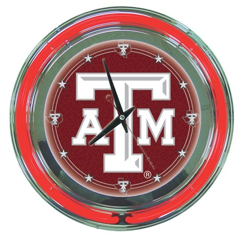 "NCAA Texas A&M Aggies Neon Clock - 14"" - image 1 of 1"
