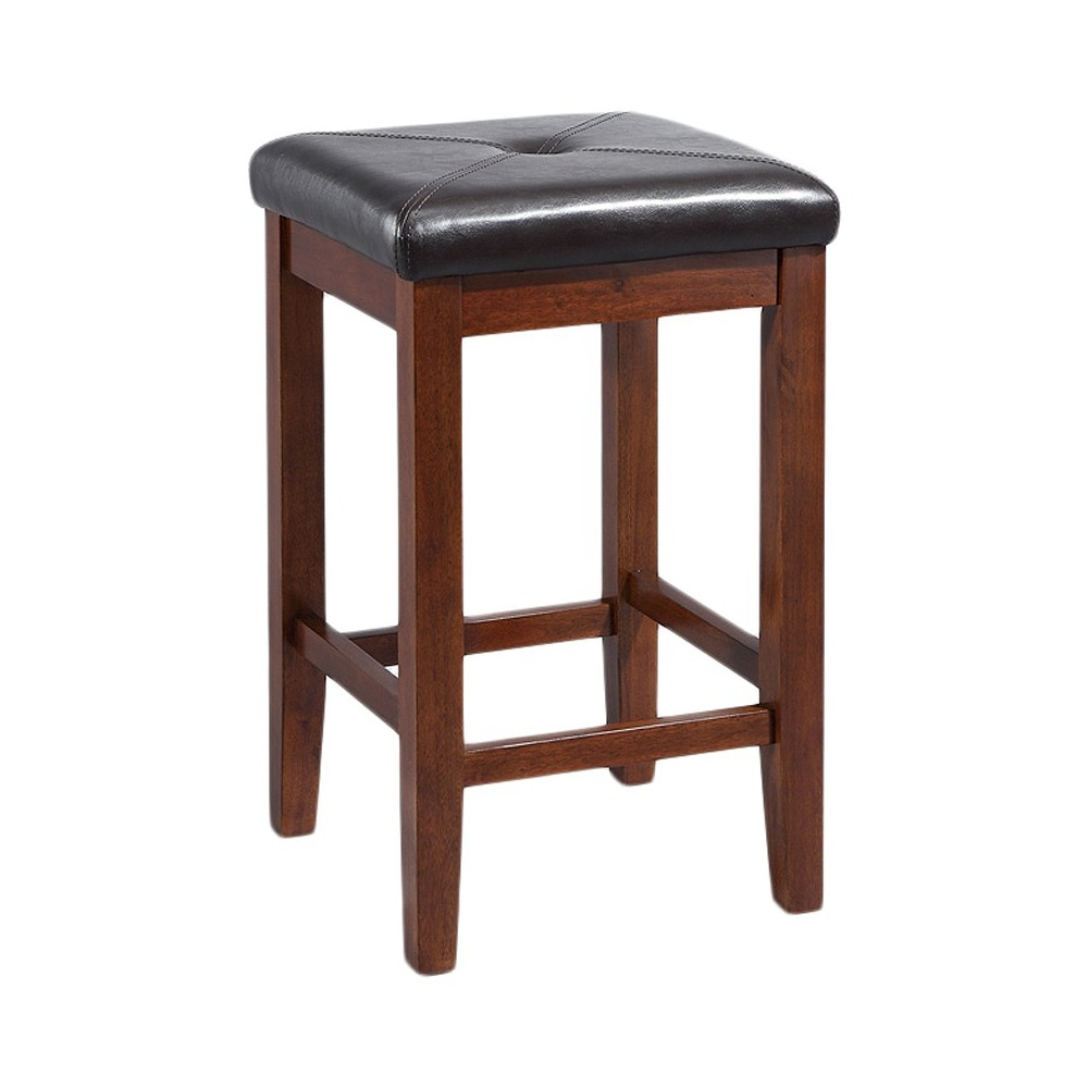 "Image of ""24"""" Square Counter Stool Mahogany (Set of Two) - Crosley"""