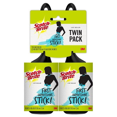 Scotch-Brite™ Laundry Lint Roller Twin Pack