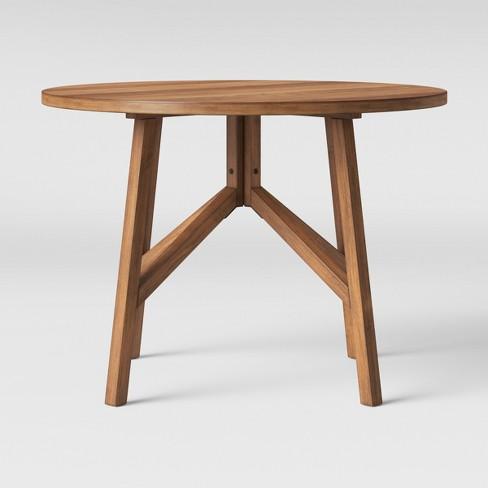 42 clarksburg cross leg wood dining table round brown threshold 42 clarksburg cross leg wood dining table round brown threshold watchthetrailerfo
